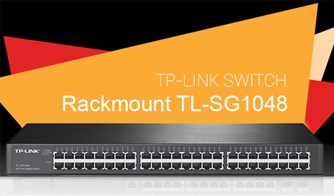 TP-LINK 48-PORT GIGABIT ETHERNET RACKMOUNT SWITCH (TL-SG1048)