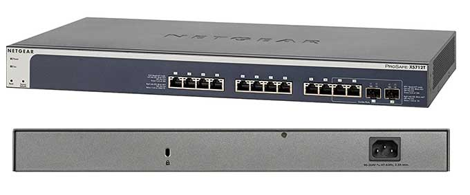 NETGEAR ProSAFE XS712T 12-Port 10GBase-T Gigabit Smart Managed Switch (XS712T-100NES) with IPv6 Support