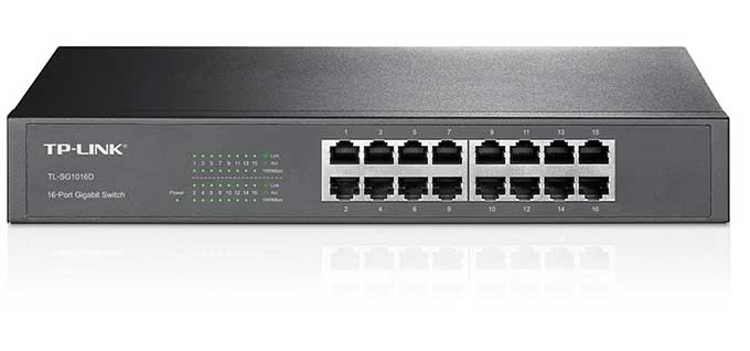 TP-LINK 16-Port Gigabit Ethernet Rackmount Switch (TL-SG1016D) - Fastest Network Switches of this year