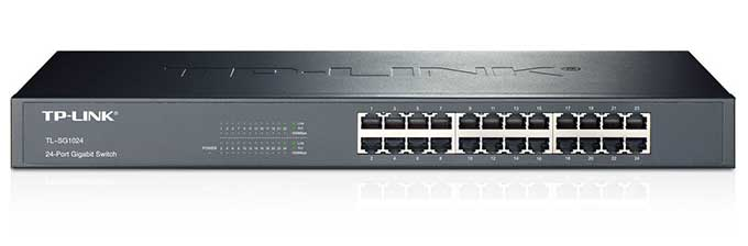 TP-LINK 24-Port Gigabit Ethernet Rackmount Switch (TL-SG1024) - Best rackmount Ethernet switches of 2017